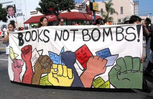 Books, not Bombs...
