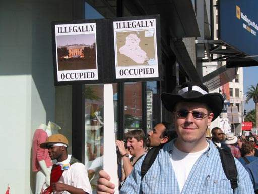 Illegally occupied...