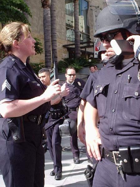 Cops move out...
