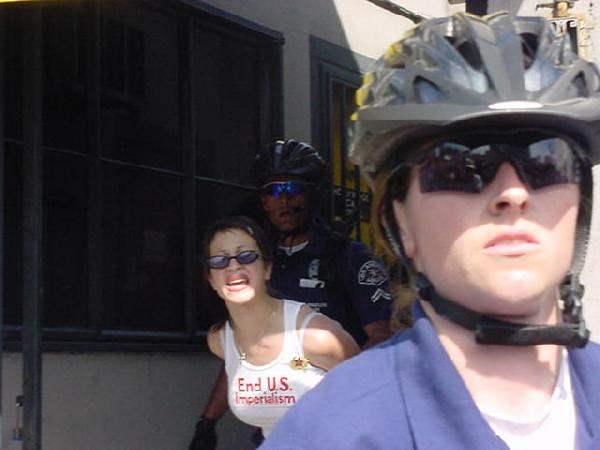 Women getting arrest...
