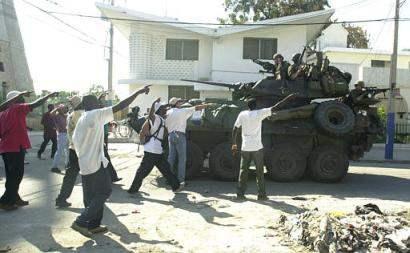 Aristide held prison...