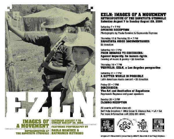 EZLN images of a mov...