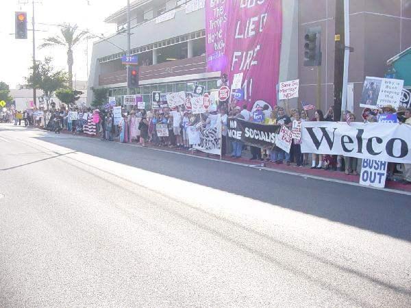 More protestors...
