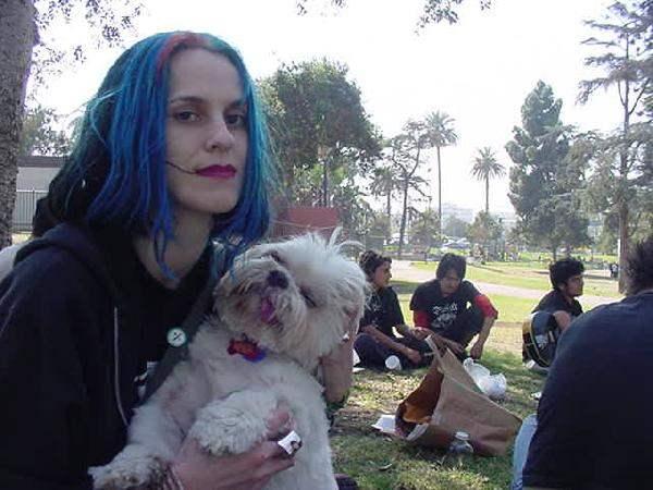 Stephanie with a ani...