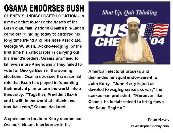 Osama Endorses Dear ...