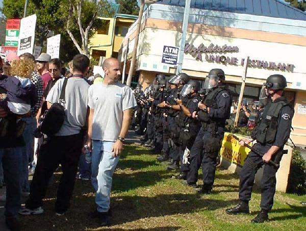 Police Guarding Recr...