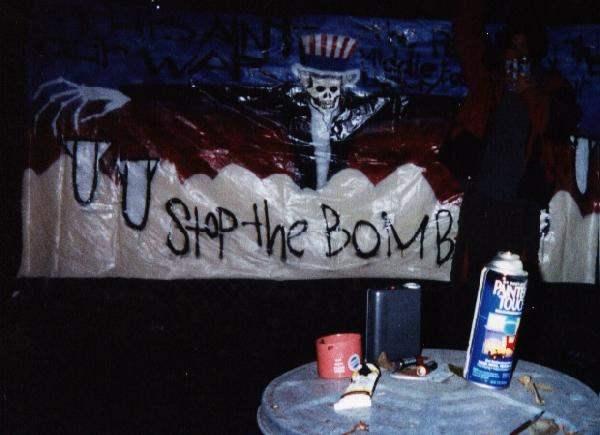 Stop Bombing Banner...