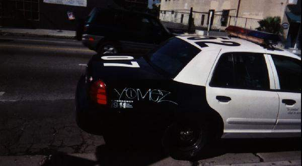 Yomez on Police Car...