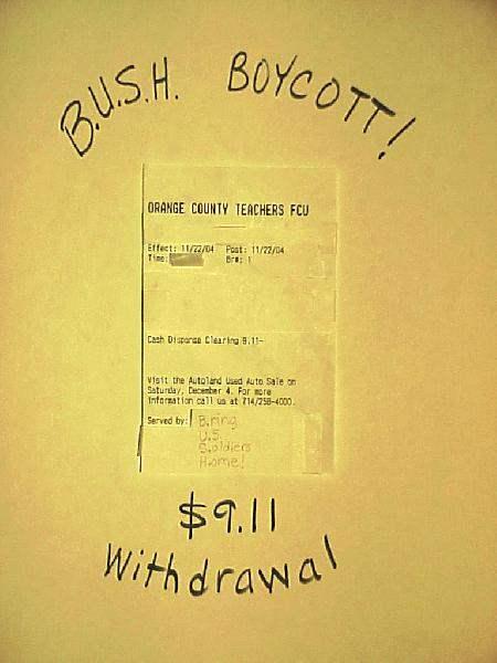 The B.U.S.H. Boycott...