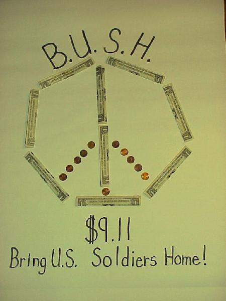 B.U.S.H. BOYCOTT, $9...