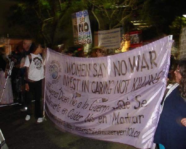 Women Say No War...