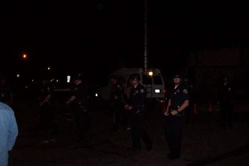 Police began to rush...