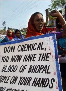 Bhopal women protest...
