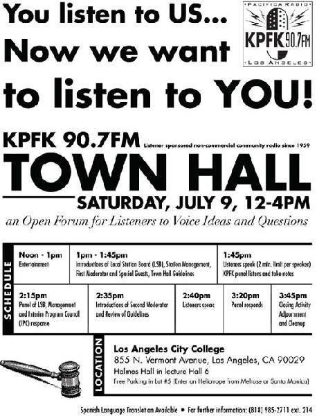 KPFK 90.7FM TOWN HAL...