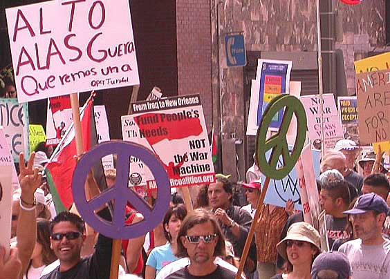LA Anti-War March, S...