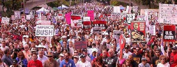 LA Anti-War March...