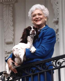 Barbara Bush shows n...