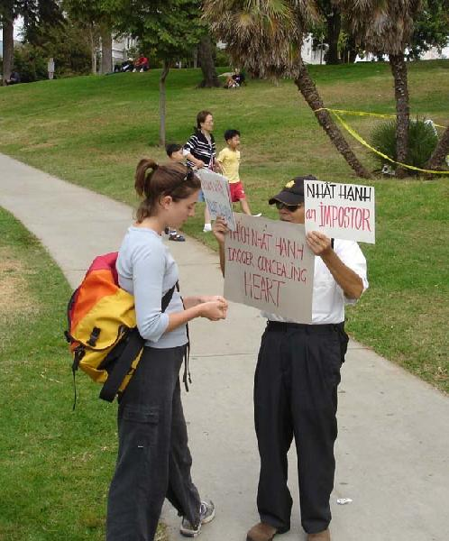 TNH Protestor Conver...