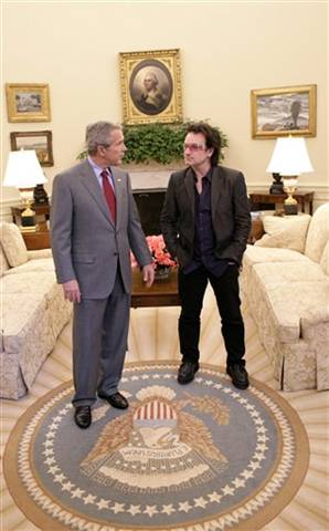 Geldof, Bono and Liv...
