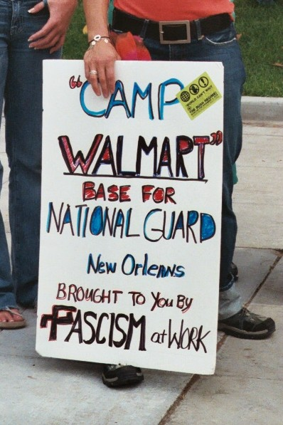 Camp Walmart...
