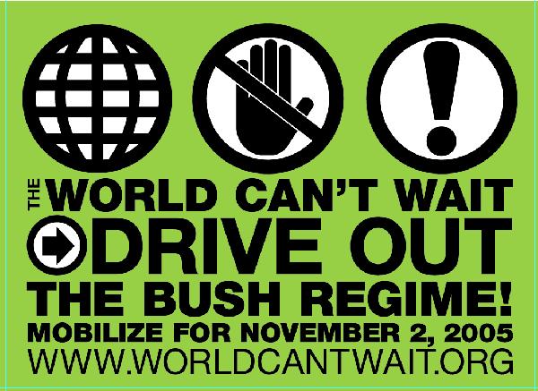 World Can't Wait log...