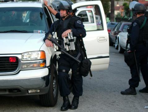 Tear gas gun!...
