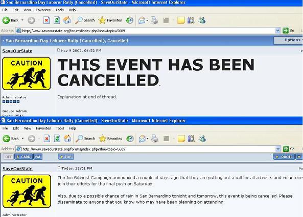 SOS Cancels San Bern...