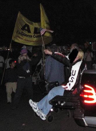 A counter protester...