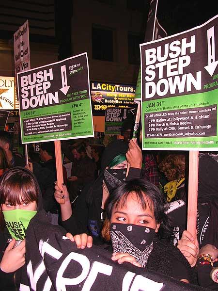 Protest: Bush Step D...