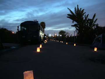 candle lit road...