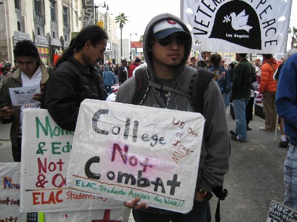 College Not Combat...