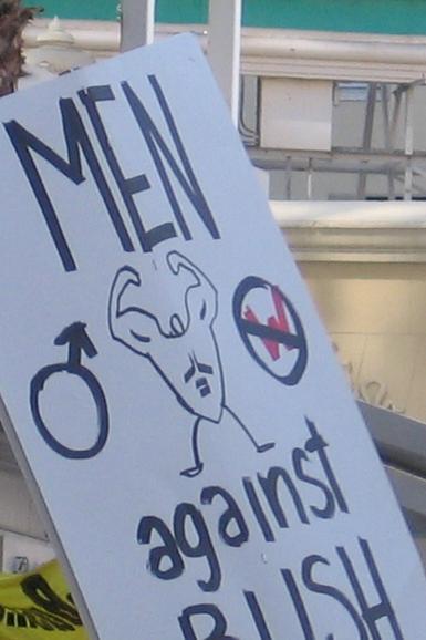 men against bush...