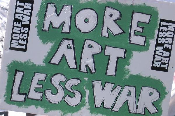 more art, less war...