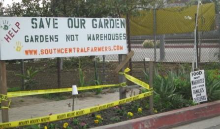 save our garden...