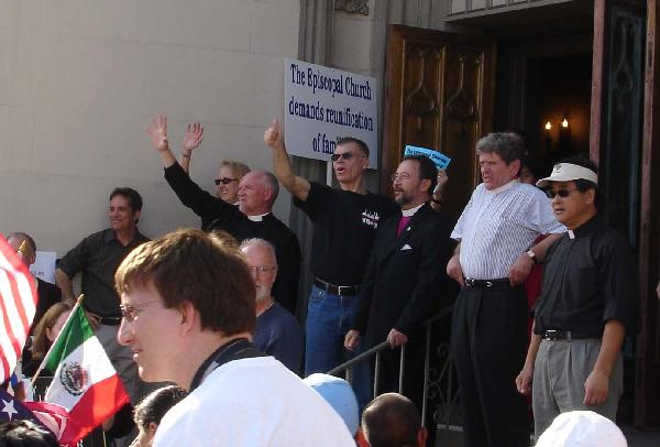 Priests Greet Marche...