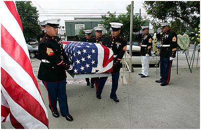 Honor Guard Carries ...