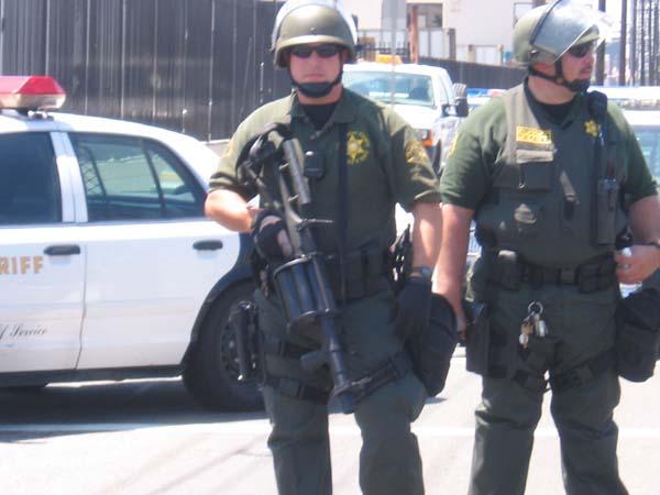LASD with riot gear...