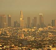L.A. Skyline hazed w...