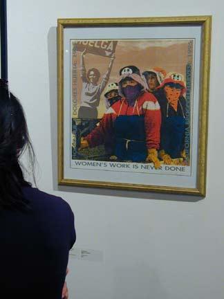 looking at artworks...