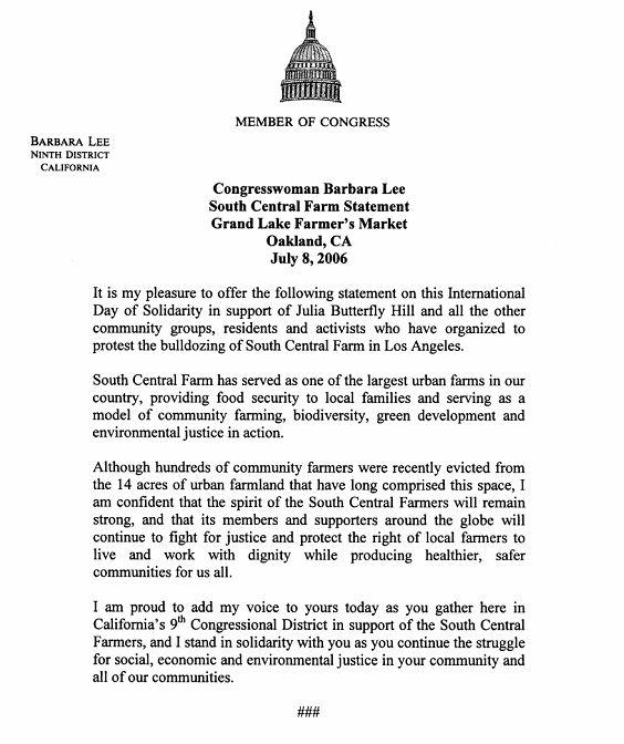 Congresswoman Barbar...