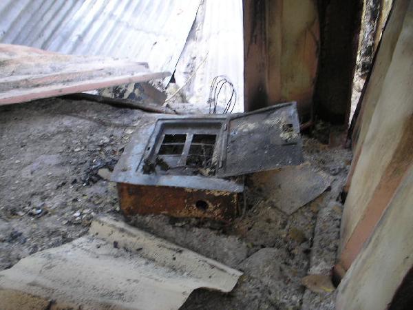 destroyed equipment...