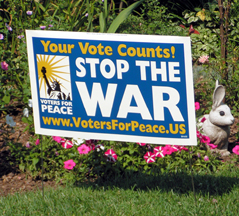 New! Vote Peace lawn...