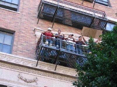 fire escape...