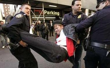 Protestor Arrested...