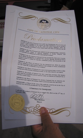 the proclamation...