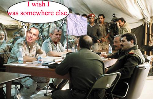 Bush-Blair surrender...