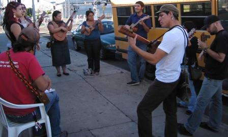 musicians warming u...