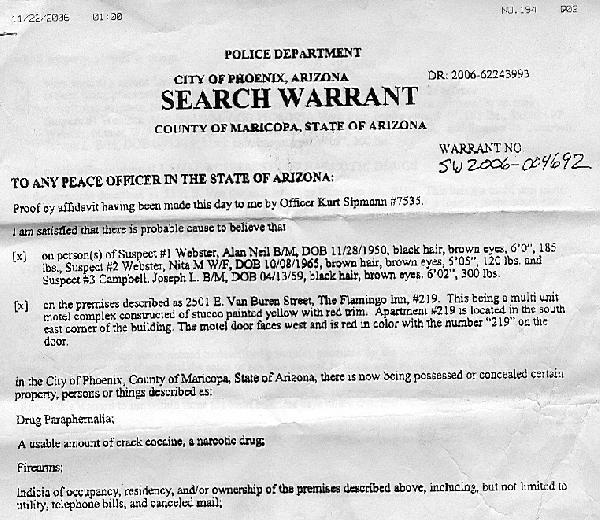 Search Warrant...