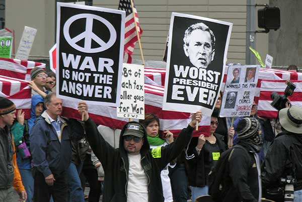 Anti War Protest in ...