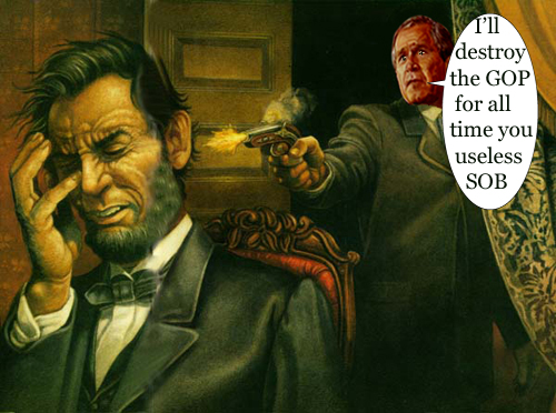 Bush shoots Lincoln...